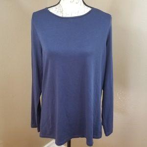 Coldwater Creek Blue Long Sleeve T-Shirt Size XL